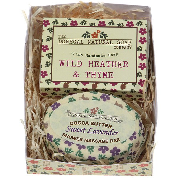 wild heather and thyme handmade soap